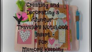traveler s notebook summer junque journal insert