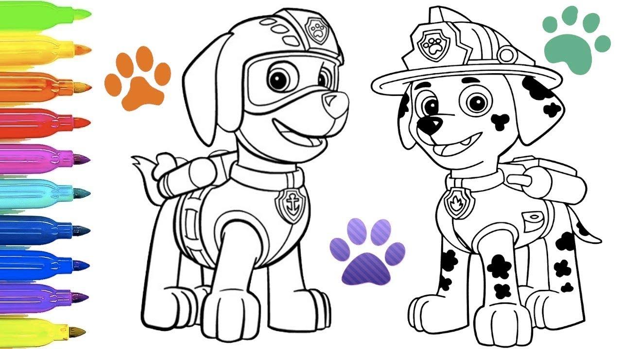Dibujos Para Colorear E Imprimir De Paw Patrol: Juego Para Colorear A Patrulla Canina Paw Patrol Coloring