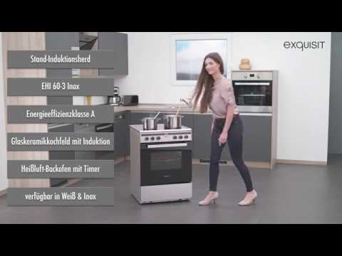 ehi 60 3i elektro standherd mit induktionskochfeld youtube. Black Bedroom Furniture Sets. Home Design Ideas