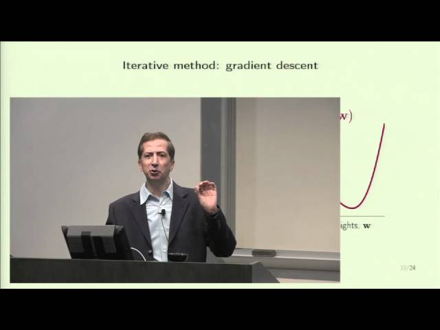 Lecture 09 - The Linear Model II - YouTube