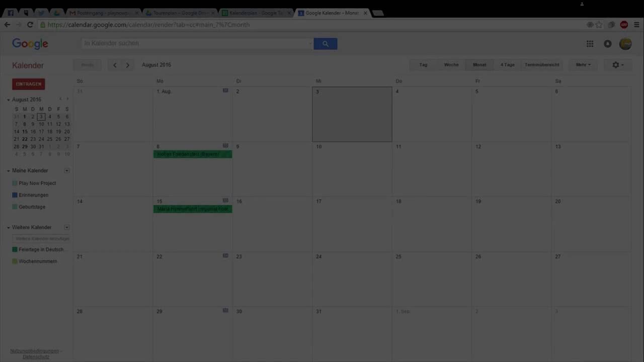 Google Kalenderdaten In Google Calender Als Csv Importieren Youtube