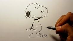 Wie zeichnet man Snoopy [Peanuts] zeichen tutorial