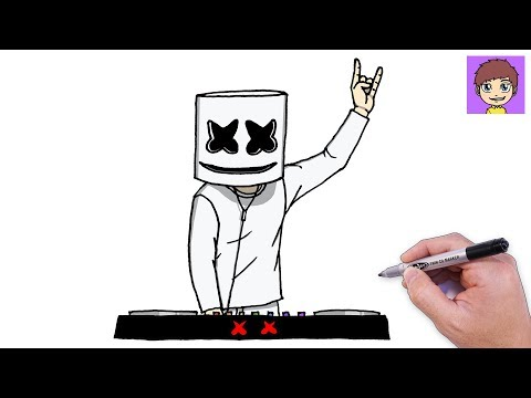 como-dibujar-a-marshmello-dj-paso-a-paso---dibujos-para-dibujar---dibujos-faciles