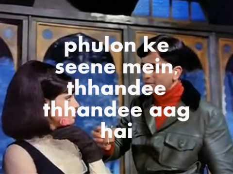 Khilte Hain Gul Yahan-Karaoke & Lyrics-Sharmilee