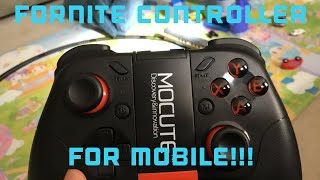 PLAYING FORTNITE *MOBILE* WITH A CONTROLLER!!! (Updated tutorial on how to get it)