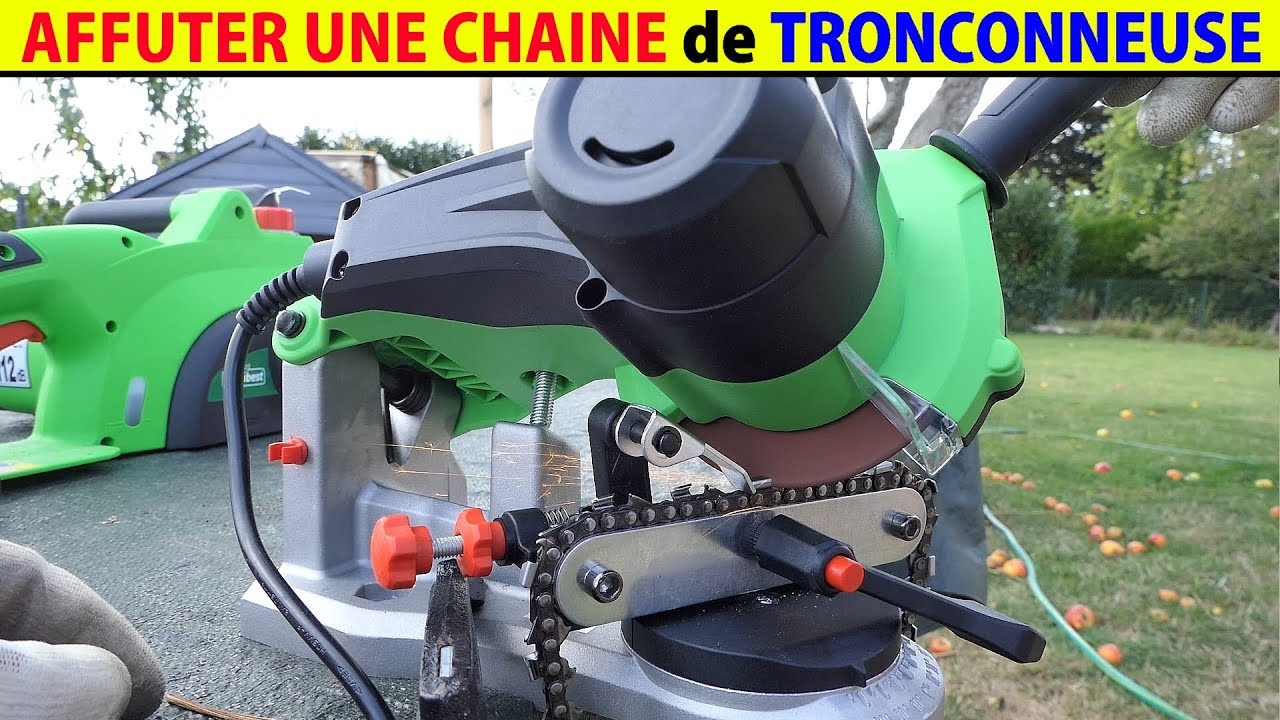 affuter une chaine de tron onneuse avec affuteuse electrique affutage machine oregon stihl lidl. Black Bedroom Furniture Sets. Home Design Ideas