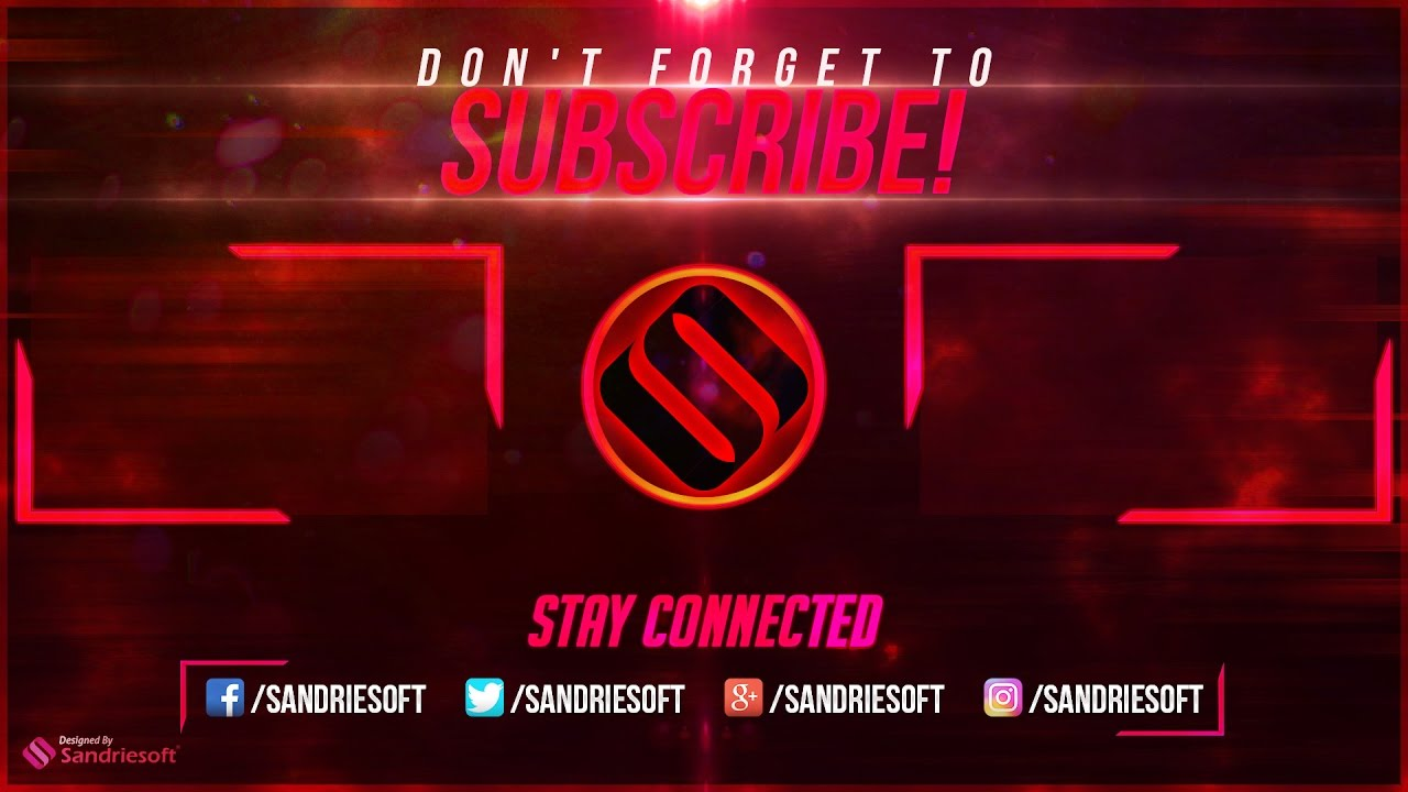 youtube outro free photoshop template 1 sandriesoft