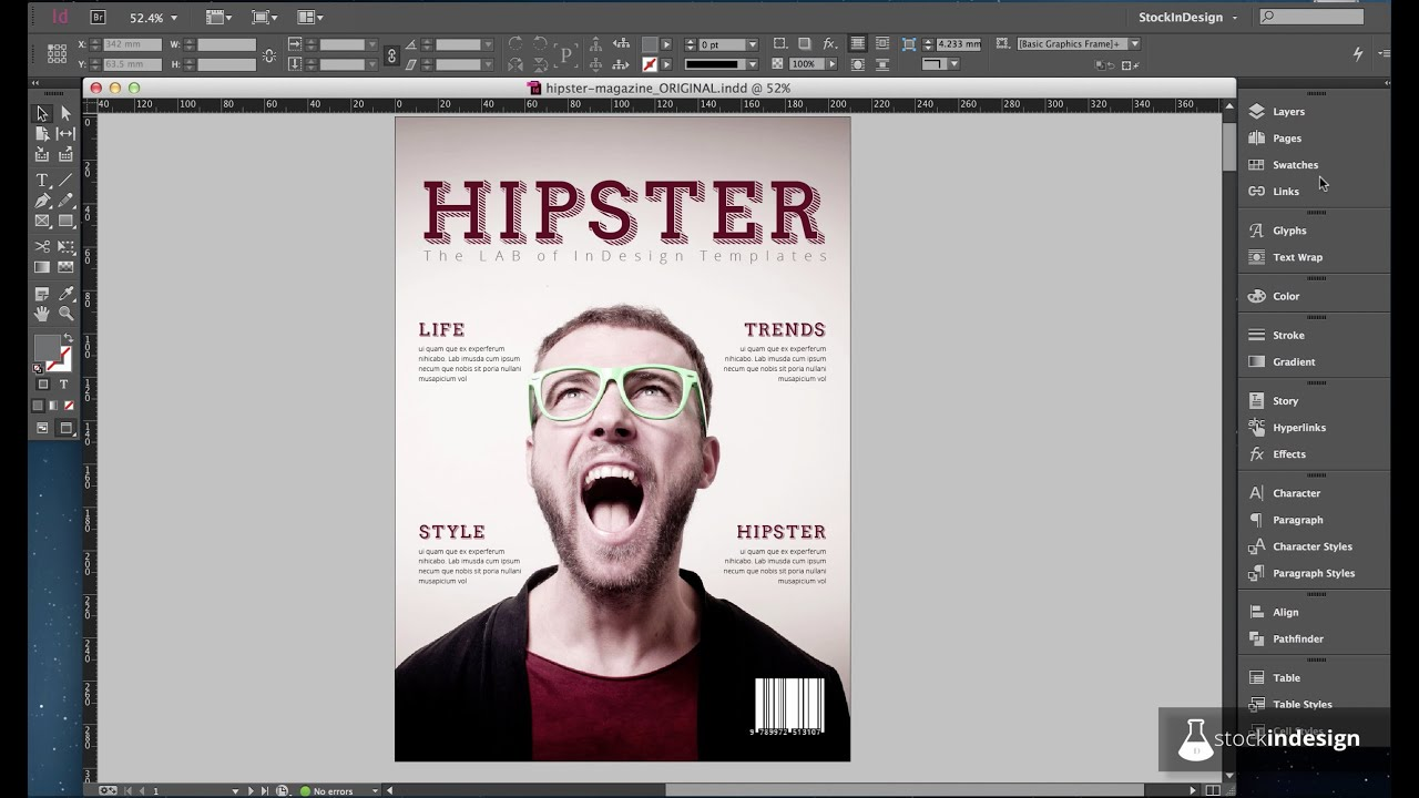 PRO InDesign Magazine Template: Hipster - YouTube