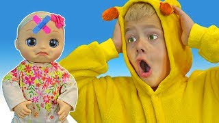 Miss Polly Had a Dolly Kids Song   Tamik and Amik Pretend Play Sing-along Nursery Rhymes Song