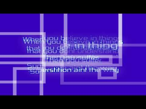 Superstition - Stevie Wonder Cover - With Lyrics