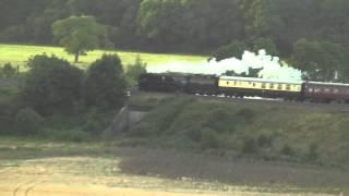 The Weymouth Seaside Express - 34046 Braunton - Newton St Loe - 10/08/14