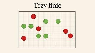 Zagadka - Jak oddzielić 3 liniami czerwone kółka od zielonych?