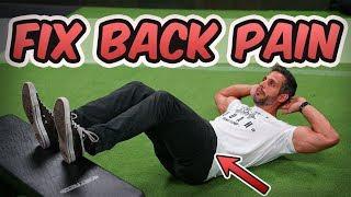 FIX LOWER BACK PAIN By Deactivating Your Hip Flexors! | Mind Pump