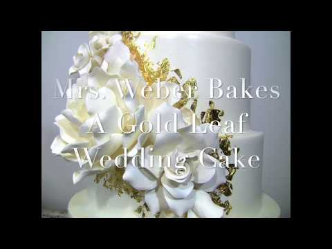 24k-gold-leaf-wedding-cake