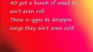 Repeat youtube video Nicki Minaj ft. Drake-Moment 4 life (lyrics on screen)