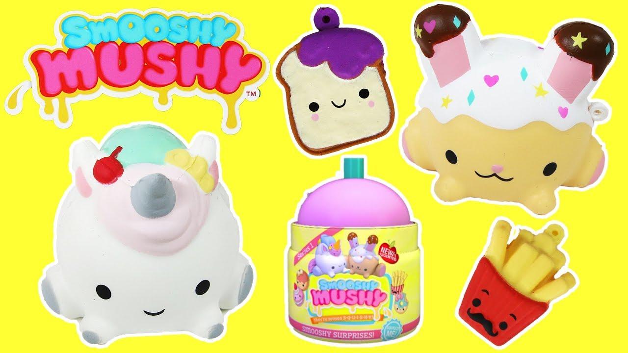 Squishy Mushy Box : Smooshy Mushy Box Squishies Squishy Slow Rise Squish Scented Toys - YouTube