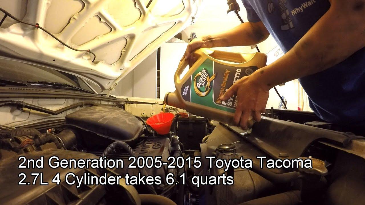 2013 tacoma 2.7 oil capacity