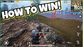 "How to win in PUBG MOBILE ""The End"" TIPS & TRICKS!"