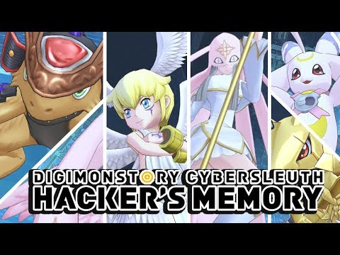 Digimon Story : Cyber Sleuth Hacker's Memory - All Rookie Digimon Special Attacks & Victory Poses!