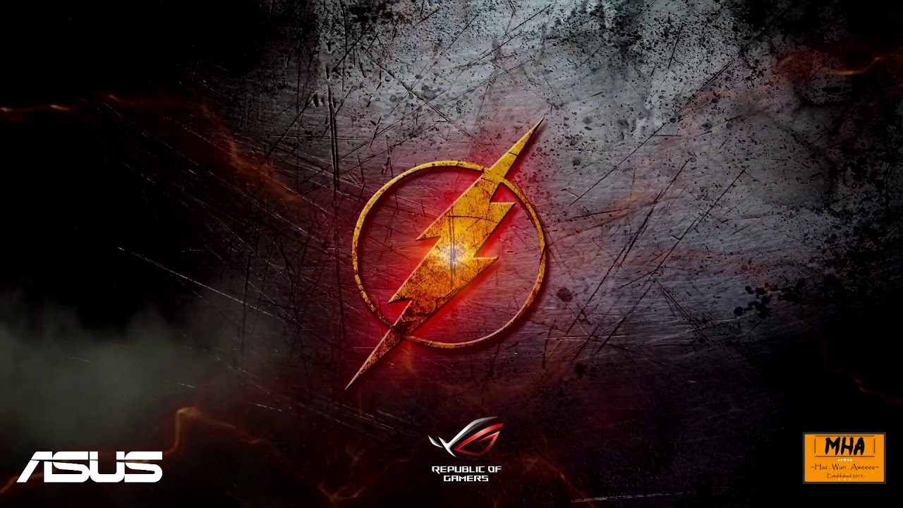 Asus Rog Wallpaper Hd Wallpaper Engine The Flash Cw With Theme Song And Asus Rog