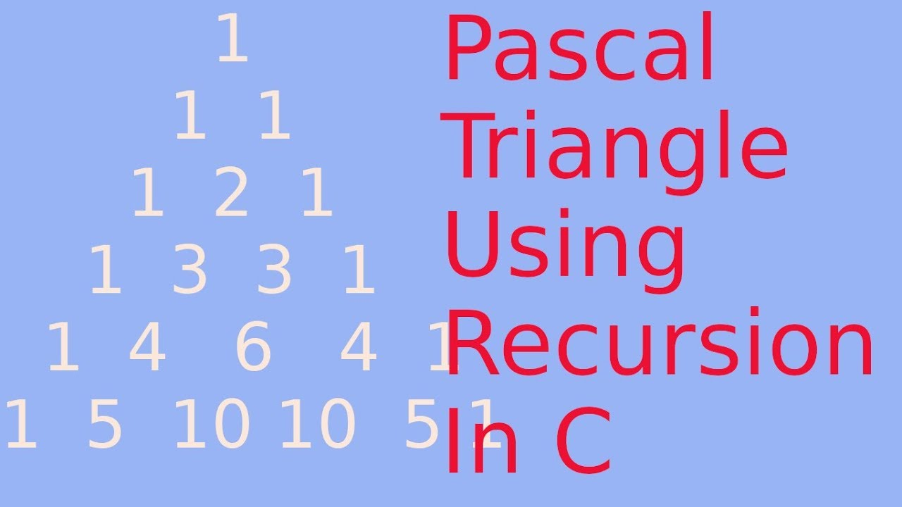 Print triangle using recursion c
