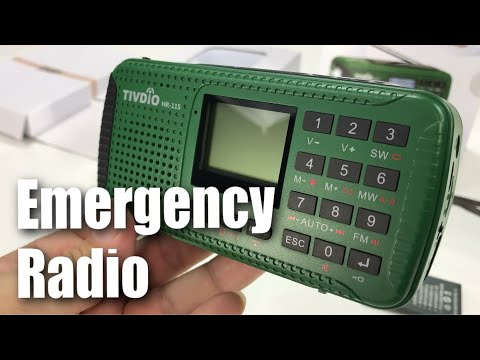TIVDIO HR-11S Emergency Solar Hand Crank AM FM Shortwave Radio and Power Bank Review