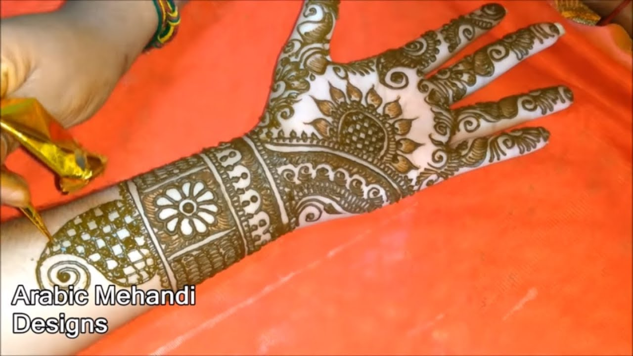 Bridal Arabic Mehndi Designs For Full Hands Images
