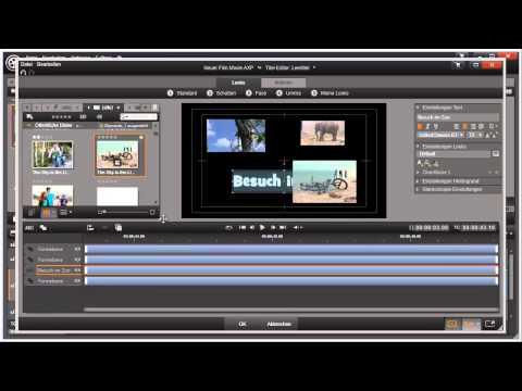 Titeleditor Timeline von Pinnacle Studio 16 und 17 Video 58 von 114