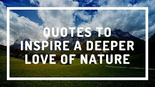 Quotes to Inspire a Deeper Love of Nature