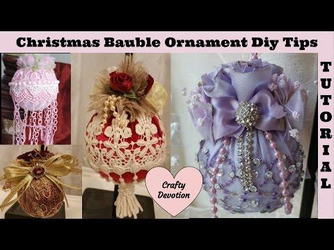 Diy 1- Lavender, Christmas Ornament Tutorial decor, Bauble Chris Decor. Diy, Tips, Tricks.