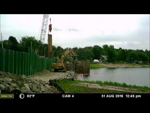 Ramshorn Pond Dam Project 2016 8: Building the Cofferdam