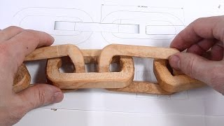 Carving a chain using only power tools