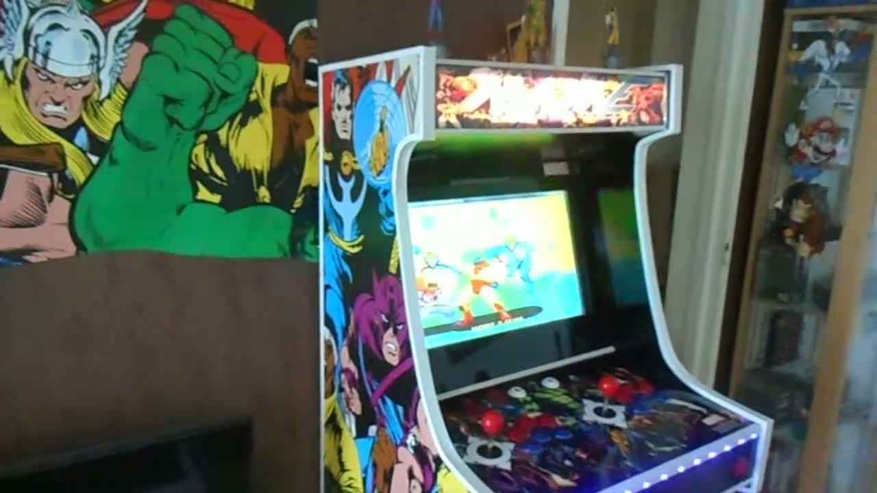 Borne d arcade faite maison youtube - Borne d arcade maison ...