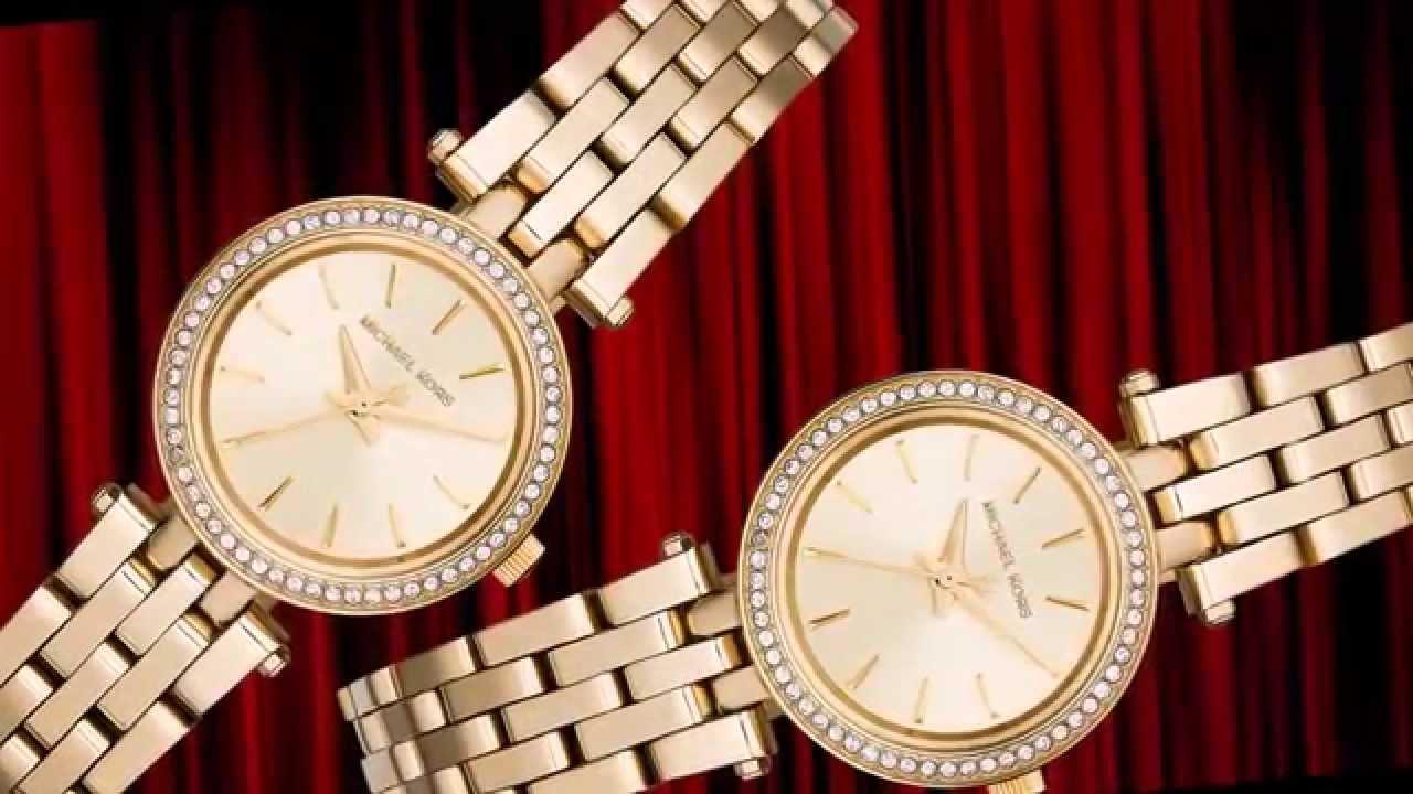 8bfdaa6ee573 Michael Kors Women s Petite Darci Gold-Tone Stainless Steel Bracelet Watch  26mm MK3295 - MK 3295
