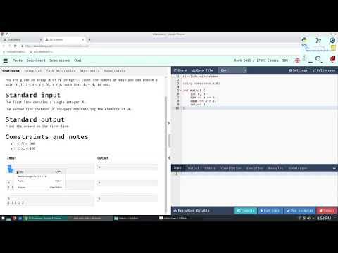 Competitive Programming Tutorial and Walkthrough - Odd Sum | CSAcademy - Beginner thumbnail