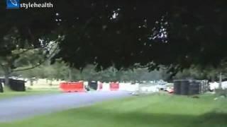 Чайка решила погонять на автогонках (видео)