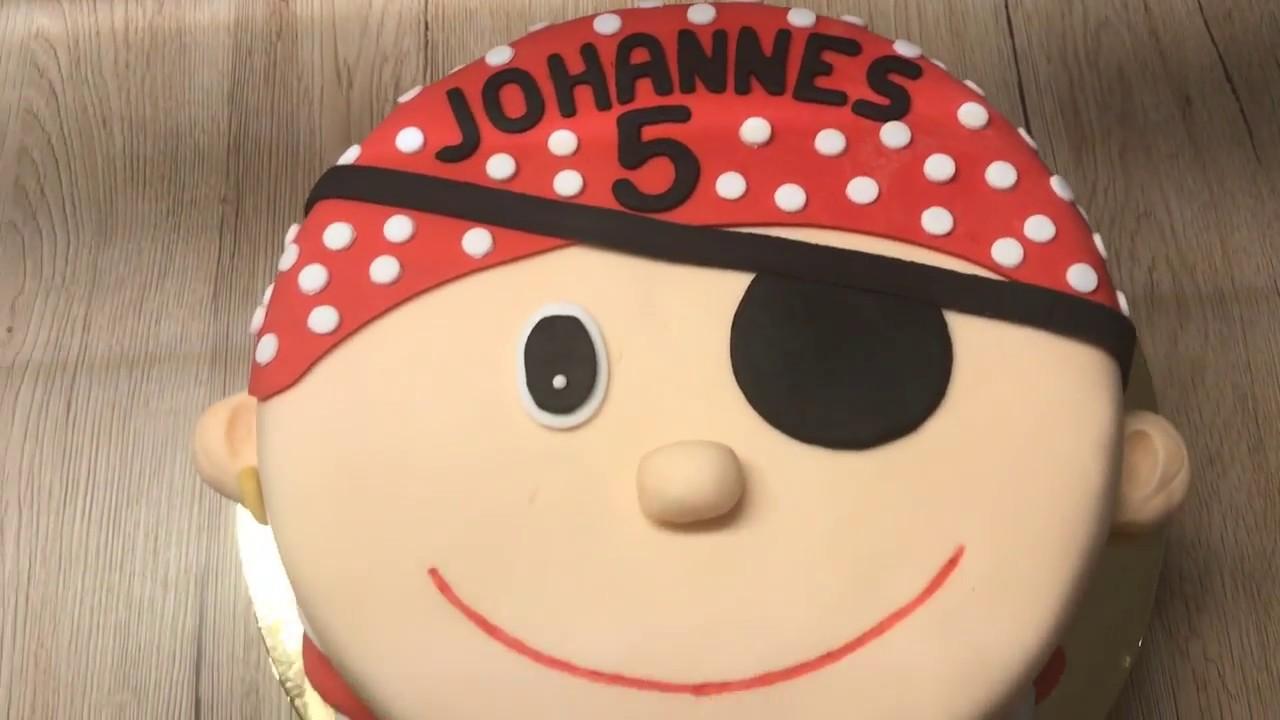 Piraten Torte Zum 5 Geburtstag Tutorial Youtube