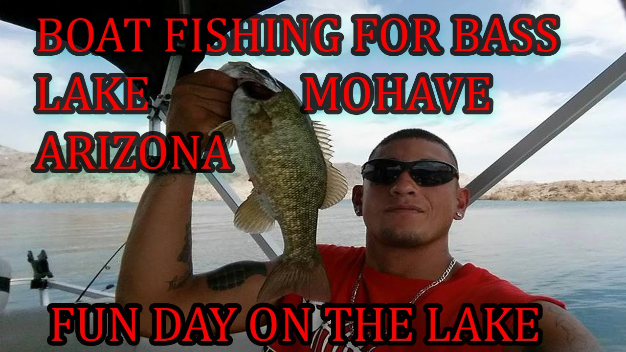 Bass fishing from boat 39 lake mohave az 39 youtube for Lake mohave fishing report