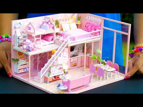 5 DIY Miniature Dollhouse Rooms For Girl