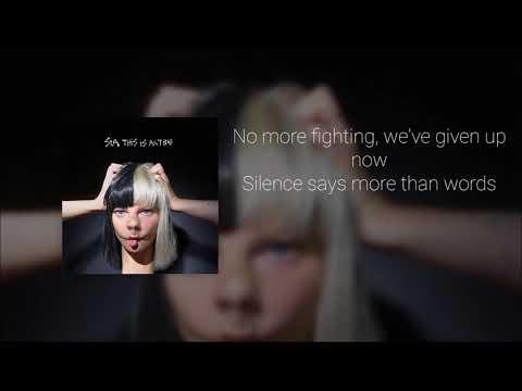 Sia - Space Between (Official Instrumental + Lyrics on Screen / Karaoke)