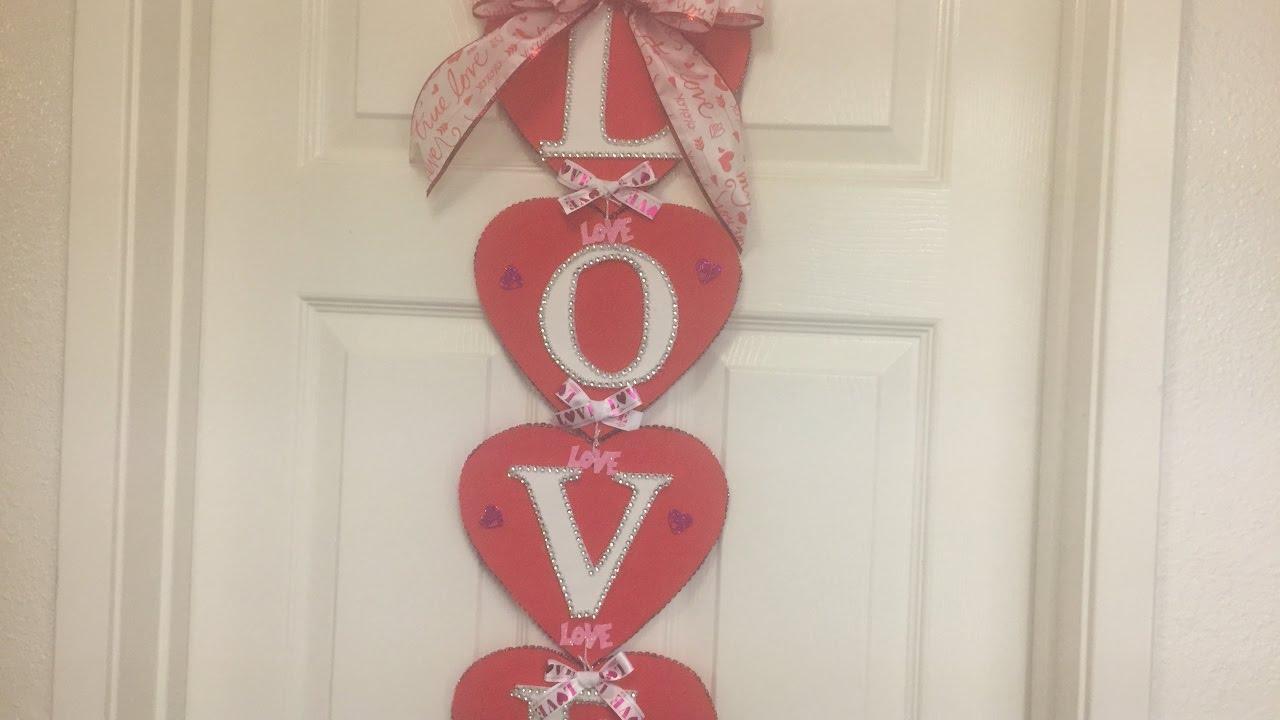 decoracion para la puerta para san valentin san valentine