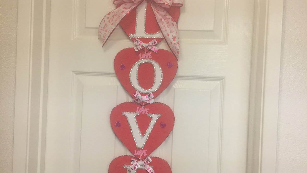 Decoracion para la puerta para san valentin san valentine for Decoracion de puertas de salones