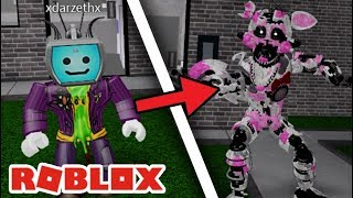 Darzeth Turns Into Nightmare Funtime Foxy in Roblox Afton's Family Diner