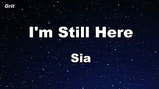 I'm Still Here   Sia Karaoke 【no Guide Melody】 Instrumental