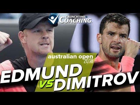 2018 Australian Open: Kyle Edmund vs Grigor Dimitrov Post Match with Pete