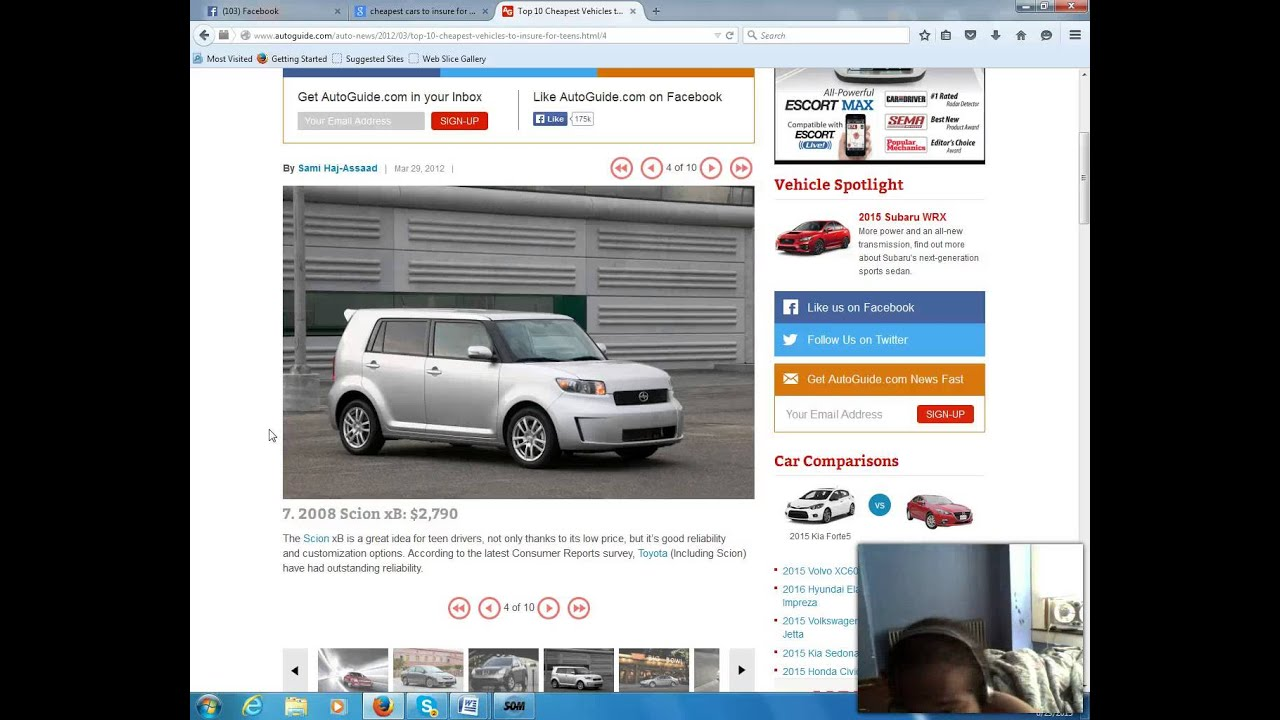 Cheapest Car To Insure For Young Drivers