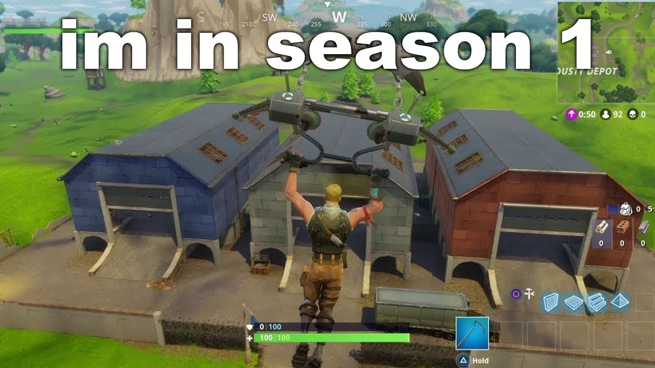 I Tried Playing Season 1 Fortnite Using A Glitch And This Happened