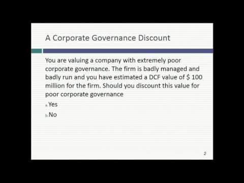 Session 14: The Dark Side of Valuation (Young companies)