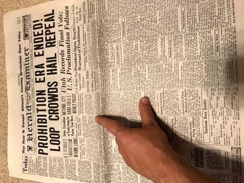 Unintentional ASMR: I Read A 1933 Chicago Newspaper For You