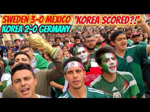 MEXICO FANS REACT TO SOUTH KOREA GERMANY SCORE! LIVE REACTION IN LA!